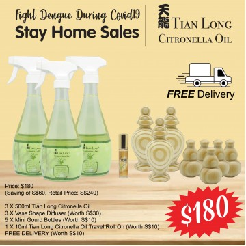 TL Citronella Oil Fight Dengue Three Bottles Bundle