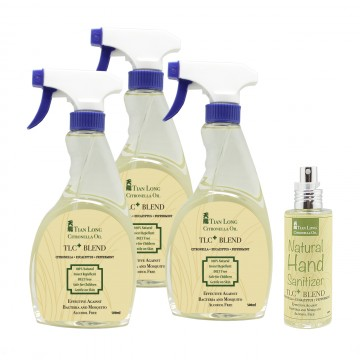 TLC Plus Blend Bundle with Natural Hand Sanitizer 100ml